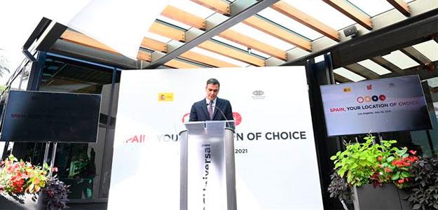 El presidente del Gobierno presenta 'España, Hub Audiovisual de Europa' en Los Ángeles