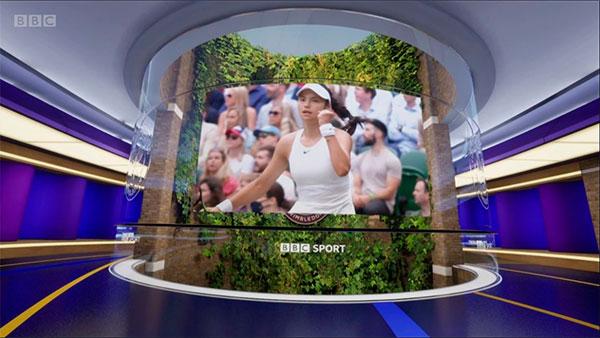 InfinitySet de Brainstorm virtualizó el estudio de BBC Sport en Wimbledon
