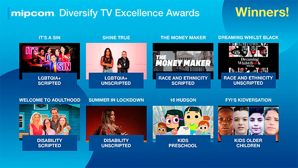 MIPCOM entrega los Diversity TV Excellence Awards