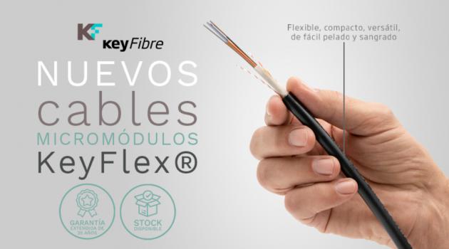 KeyFlex®: el innovador cable micro módulo que ha lanzado KeyFibre con 25 años de garantía
